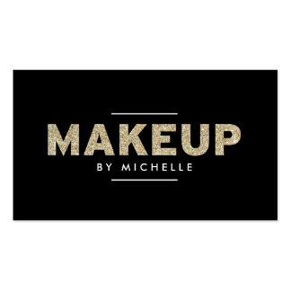 Artista de maquillaje moderno del brillo II del or Tarjetas De Visita