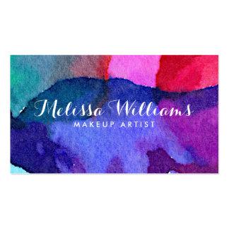Artista de maquillaje multicolor abstracto de las tarjetas de visita