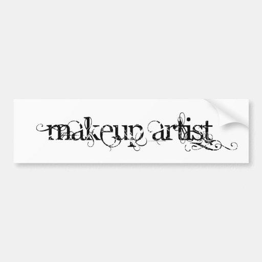 Artista de maquillaje pegatina para auto