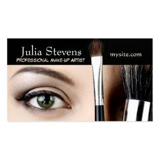Artista de maquillaje profesional tarjeta del sal tarjetas de visita