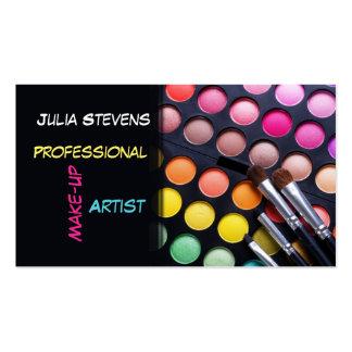 Artista de maquillaje profesional tarjeta del sal tarjeta personal