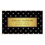 Artista de maquillaje - puntos negros del oro tarjetas de visita