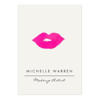 Artista de maquillaje rosado intrépido de la tarjetas de visita grandes