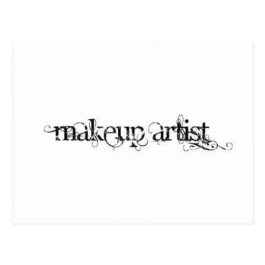 Artista de maquillaje tarjeta postal