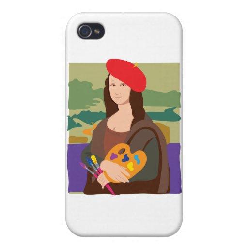 Artista de Mona Lisa iPhone 4 Carcasa