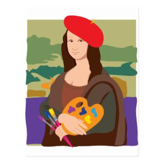 Artista de Mona Lisa Tarjeta Postal