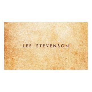 Artista de piedra envejecido y rústico de la super tarjetas de visita