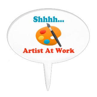 Artista de Shhhh en el pintor del trabajo Figuras De Tarta