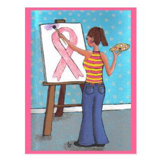 Artista del cáncer de pecho - postal de la concien