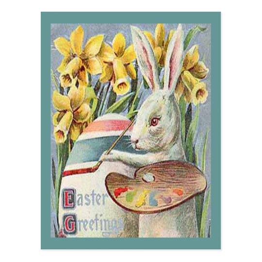 Artista del conejito de pascua del vintage tarjetas postales