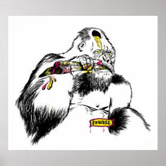 Artista del gorila x póster