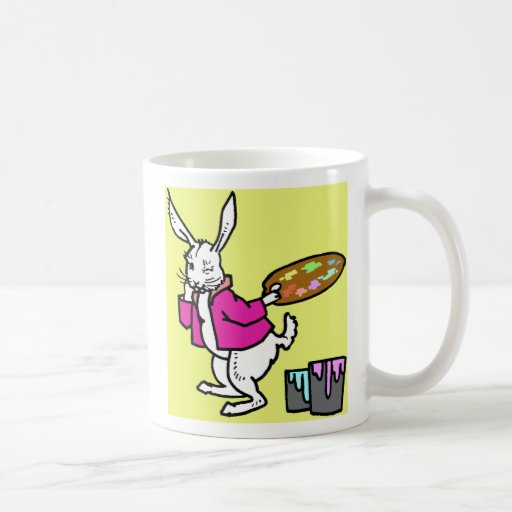 Artista del huevo del conejito de pascua taza