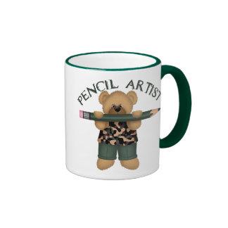 Artista del lápiz tazas de café