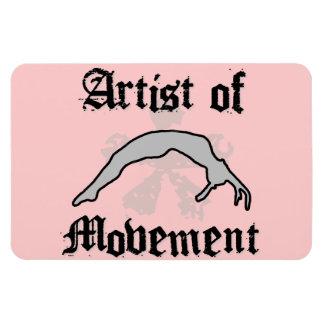 Artista del movimiento que cae iman