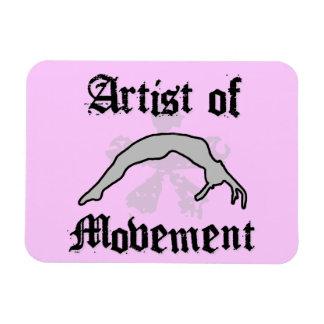 Artista del movimiento que cae iman de vinilo