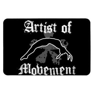 Artista del movimiento que cae imanes de vinilo
