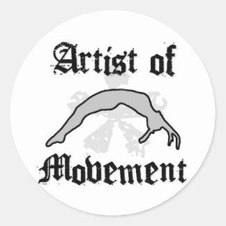 Artista del movimiento que cae pegatina