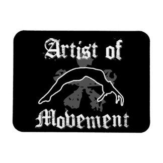 Artista del movimiento que cae rectangle magnet