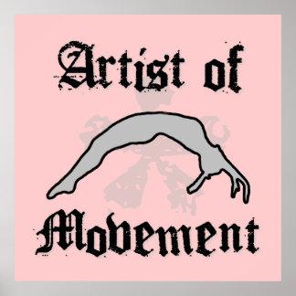 Artista del poster que cae del movimiento