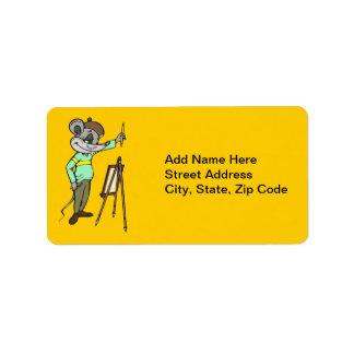 Artista del ratón etiqueta de dirección