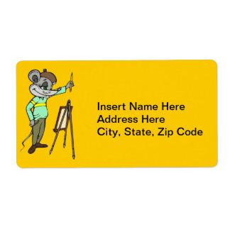 Artista del ratón etiquetas de envío