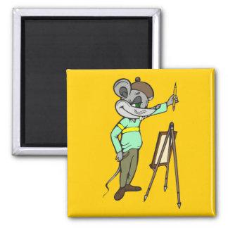 Artista del ratón imán cuadrado