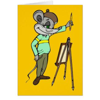 Artista del ratón tarjeta pequeña