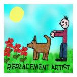 Artista del reemplazo invitación 13,3 cm x 13,3cm