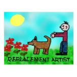 Artista del reemplazo postal