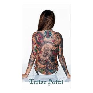 Artista del tatuaje tarjetas de visita