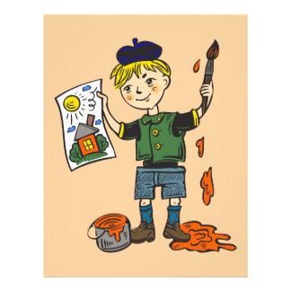 """Artista e ilustraciones 2 del muchacho folleto 8.5"""" x 11"""""""