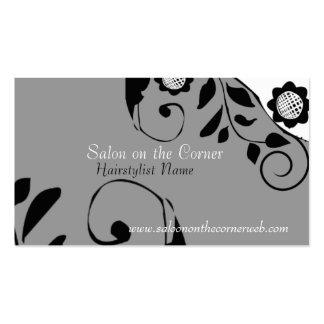 Artista en colores pastel retro del bordado hecho tarjetas de visita