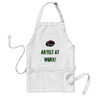 Artista en el delantal del arte del trabajo
