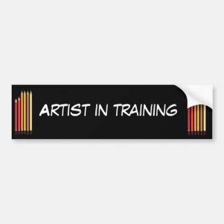 Artista en el entrenamiento pegatina para auto