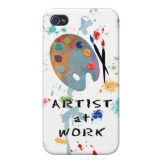 Artista en el trabajo iPhone 4 fundas
