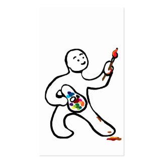 Artista en el trabajo plantilla de tarjeta personal