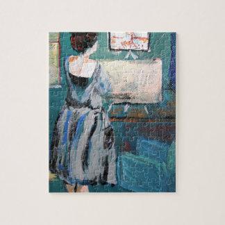 Artista en su escritorio puzzle