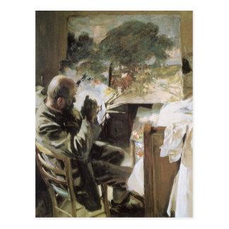 Artista en su estudio por Sargent, Victorian del Postal