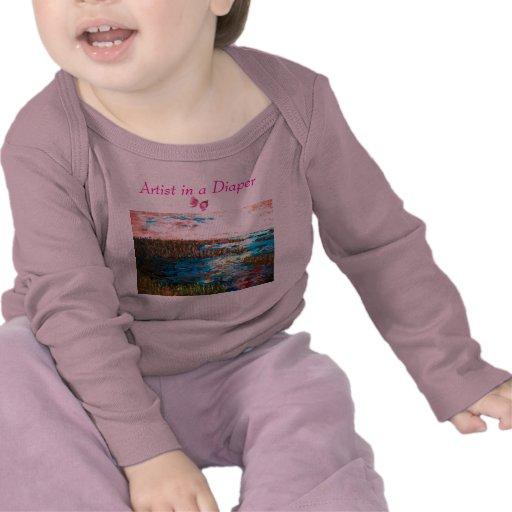 Artista en un pañal, Saltmarsh Camiseta