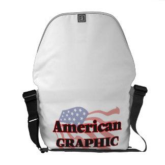 Artista gráfico americano bolsas de mensajería