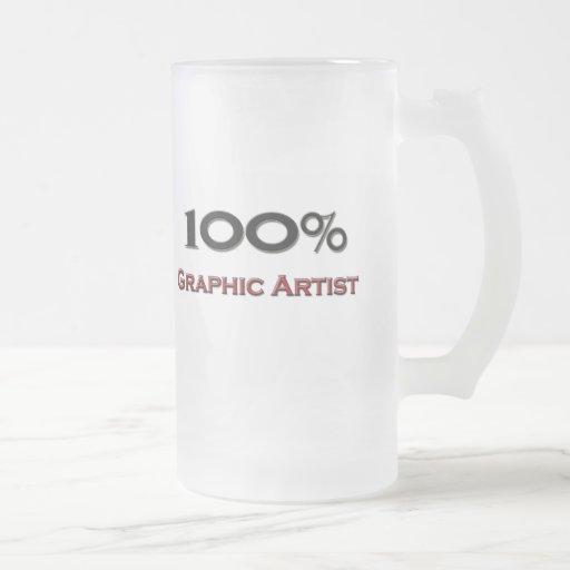 Artista gráfico del 100 por ciento taza