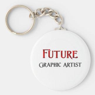 Artista gráfico futuro llavero