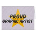 Artista gráfico orgulloso felicitación