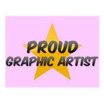 Artista gráfico orgulloso tarjeta postal