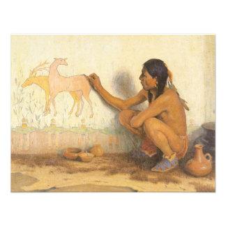 Artista indio por Couse nativo americano del Invitaciones Personales