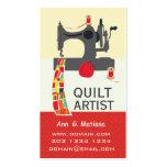 Artista intrépido del edredón de los artes de la tarjetas de visita