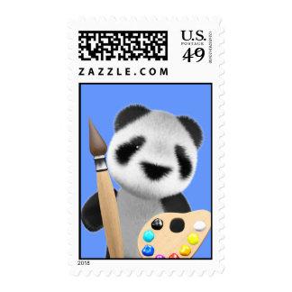 Artista lindo de la panda 3d editable