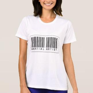 Artista marcial del código de barras camisetas