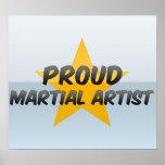 Artista marcial orgulloso poster
