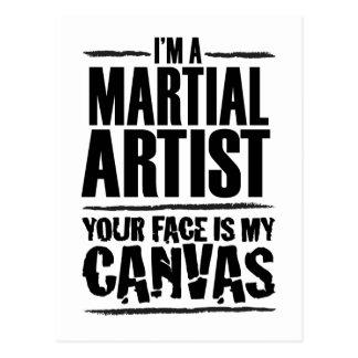 Artista marcial - su cara es mi lona postal
